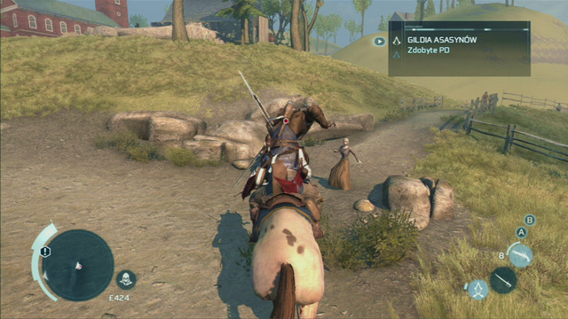 Connor's ability to attack other enemies on horses is very useful - Riding horses - Exploration - Assassins Creed III - Game Guide and Walkthrough