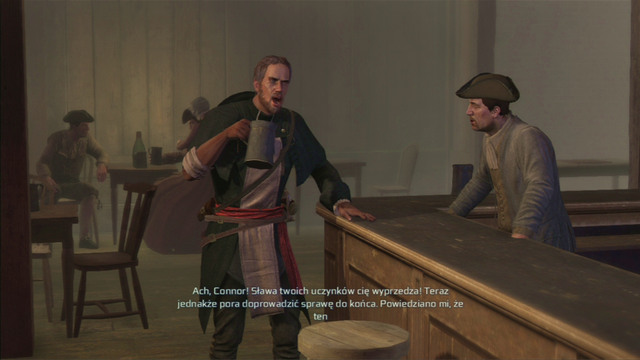 After a conversation in the tavern, you will receive a mission of killing the local Templar officer - Boston - northern district in Assassins Creed III Remastered - Assassin Guild - Assassins Creed III Game Guide & Walkthrough
