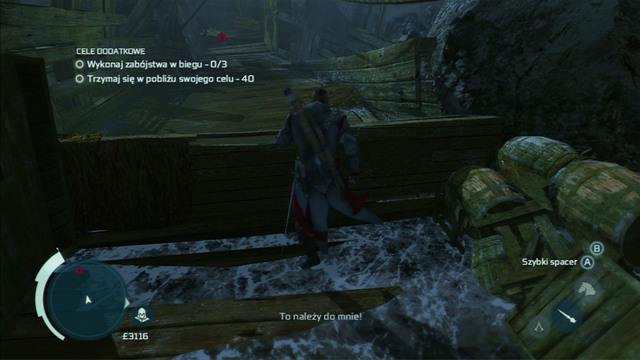 The man will find the piece of man which Connor is looking for and you will have to get it back - Naval mission - Dead Chests Treasure | Captain Kidds treasure in AC III - Captain Kidds treasure - Assassins Creed III Game Guide & Walkthrough