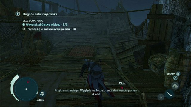 During the chase, you might come across single enemies - Naval mission - Dead Chests Treasure | Captain Kidds treasure in AC III - Captain Kidds treasure - Assassins Creed III Game Guide & Walkthrough