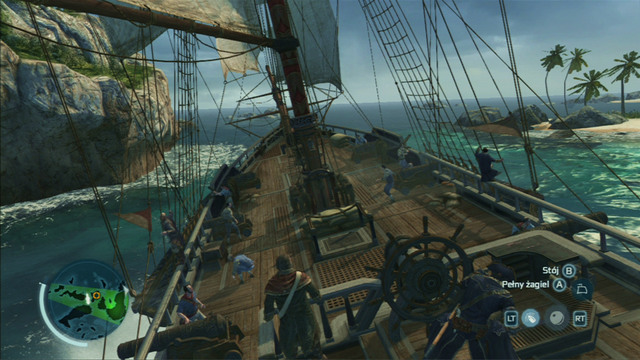 Optional objective: Take out the mast of the main ship in one chain shot - Biddles Hideout | Naval missions in Assassins Creed III Remastered - Naval missions - Assassins Creed III Game Guide & Walkthrough
