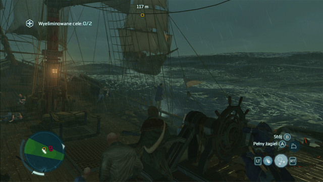 Soon afterwards you will be attacked by two more ships from the right - Biddles Hideout | Naval missions in Assassins Creed III Remastered - Naval missions - Assassins Creed III Game Guide & Walkthrough