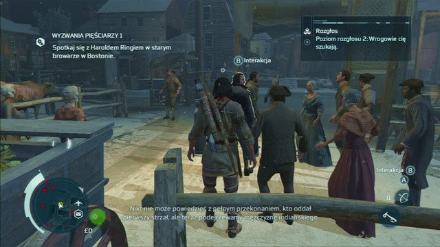 From a short cinematic you will learn that you can also lower the notoriety level by bribing town criers or print shops workers - Sequence 5 - Bostons Most Wanted - Walkthrough - Assassins Creed III - Game Guide and Walkthrough