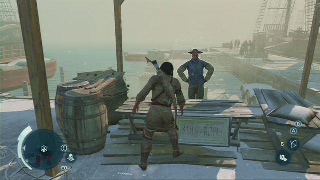 Head out of the building and follow Samuel to the docks - Sequence 5 - Stop the Press - Walkthrough - Assassins Creed III - Game Guide and Walkthrough