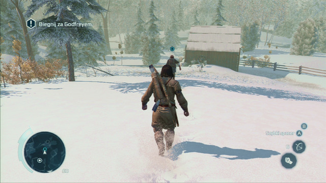 You will then have to run with him to the river, where his friend is being pulled by the current towards the waterfall - Sequence 5 - River Rescue - Walkthrough - Assassins Creed III - Game Guide and Walkthrough