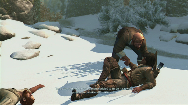 If you want to complete the optional objective, you cannot touch the water - Sequence 5 - River Rescue - Walkthrough - Assassins Creed III - Game Guide and Walkthrough
