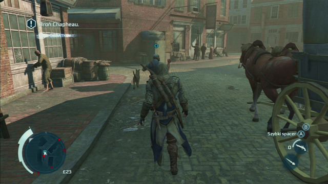 Optional objective: Limit time spent in open conflict - 0:15 - Sequence 6 - The Angry Chef - Walkthrough - Assassins Creed III - Game Guide and Walkthrough