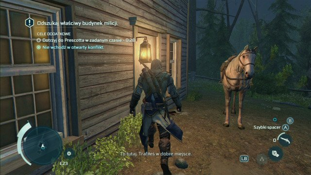 Find the manor using Eagle Vision and knock on the door - Sequence 7 - The Midnight Ride - Walkthrough - Assassins Creed III - Game Guide and Walkthrough