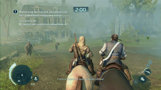 Optional objective: Rescue civilian hostages - Sequence 7 - Lexington and Concord - Walkthrough - Assassins Creed III - Game Guide and Walkthrough