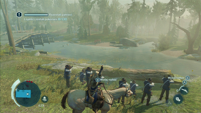 Optional objective: Kill groups of regulars with a single order - 7 - Sequence 7 - Lexington and Concord - Walkthrough - Assassins Creed III - Game Guide and Walkthrough