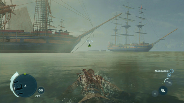 That way you will reach the harbor and from there will be able to swim to the marked point - Sequence 7 - Conflict Looms - Walkthrough - Assassins Creed III - Game Guide and Walkthrough