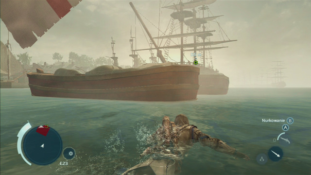 Leave the ship before the bomb explodes and swim to the second one - Sequence 7 - Conflict Looms - Walkthrough - Assassins Creed III - Game Guide and Walkthrough