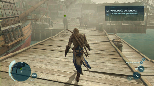 After reaching the shore, the mission will end - Sequence 7 - Conflict Looms - Walkthrough - Assassins Creed III - Game Guide and Walkthrough