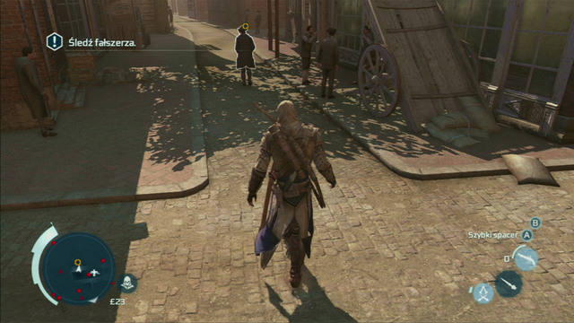 That way you will reach a marketplace, from where you will have to follow the mysterious counterfeiter - Sequence 8 - Something on the Side - Walkthrough - Assassins Creed III - Game Guide and Walkthrough