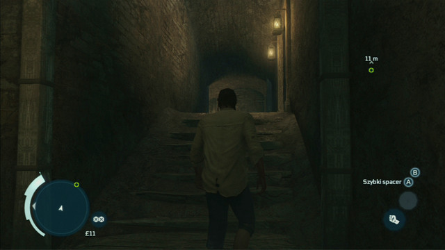 Now you will have to slowly follow the guard and quickly run upstairs as he turns left - Sequence 8 - Bridewell Prison - Walkthrough - Assassins Creed III - Game Guide and Walkthrough