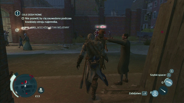 Optional objective: Do not get detected while stealing the mercenary outfit - Sequence 9 - Father and Son - Walkthrough - Assassins Creed III - Game Guide and Walkthrough