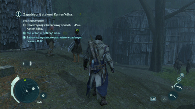 Optional objective: Stop the Kanien'keha with non-lethal methods - Sequence 10 - A Broken Trust - Walkthrough - Assassins Creed III - Game Guide and Walkthrough