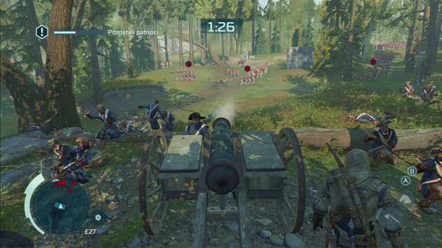 Optional objective: Neutralize platoons with a single cannonball - 8 - Sequence 10 - Battle of Monmouth - Walkthrough - Assassins Creed III - Game Guide and Walkthrough