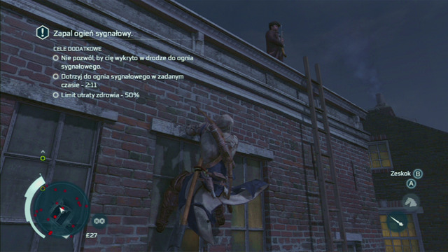 Now you can keep jumping between the roofs in the designated order, silently killing the guards on your way - Sequence 11 - Lees Last Stand - Walkthrough - Assassins Creed III - Game Guide and Walkthrough