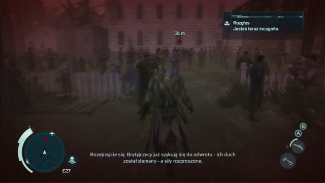 Optional objective: Limit regular kills - 15 - Sequence 12 - Laid to Rest - Walkthrough - Assassins Creed III - Game Guide and Walkthrough