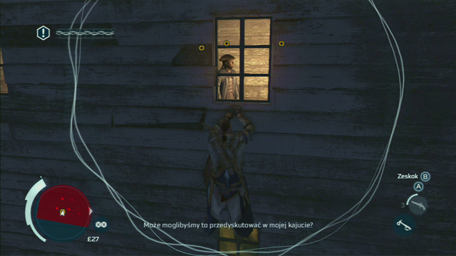 From there you have to reach the nearby window and eavesdrop on the conversation - Sequence 12 - Laid to Rest - Walkthrough - Assassins Creed III - Game Guide and Walkthrough