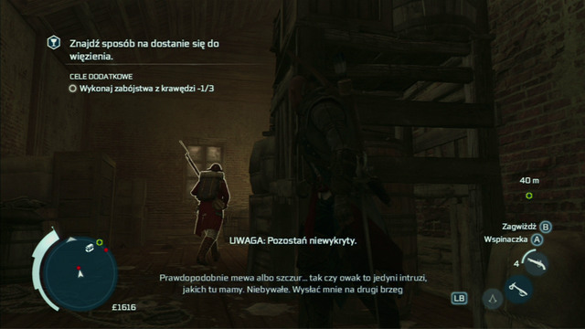 Approach the first enemy there from behind and stick a hidden blade into his back - Naval mission - Fort Wolcott - Captain Kidd's treasure - Assassins Creed III - Game Guide and Walkthrough