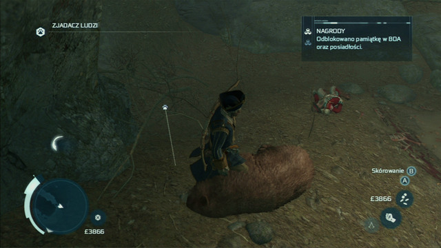 Kill the bear to end the mission - The Hunting Society - Guild missions - Assassins Creed III - Game Guide and Walkthrough