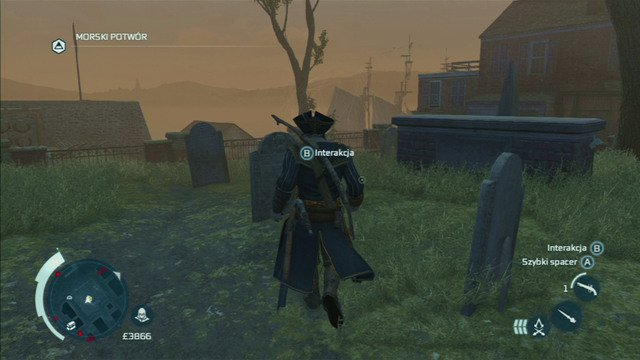 Eventually you will reach a cemetery where you will have to meet with a widow - The Frontiersmen Club in Assassins Creed III Remastered - Guild missions - Assassins Creed III Game Guide & Walkthrough