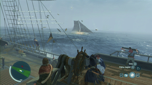 Optional objective: Sink more enemies than La Belladonna - 11 - French Involvement - Naval missions - Assassins Creed III - Game Guide and Walkthrough