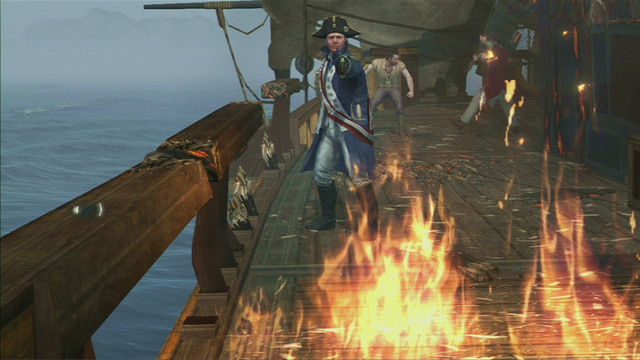 Optional objective: Kill the officer within the given time - 1:00 - French Involvement - Naval missions - Assassins Creed III - Game Guide and Walkthrough