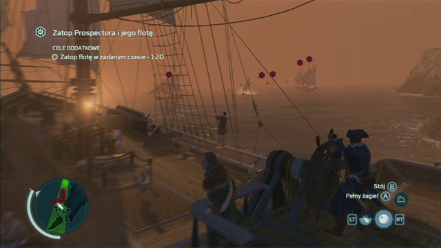 Optional objective: Sink the fleet within the time limit - 1:30 - Raiding the Prospector - Privateer Contracts - Assassins Creed III - Game Guide and Walkthrough