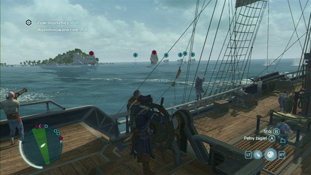 You should sink 1-2 ships before they all split up and start sailing in opposite directions - The Sea Wolves - Privateer Contracts - Assassins Creed III - Game Guide and Walkthrough