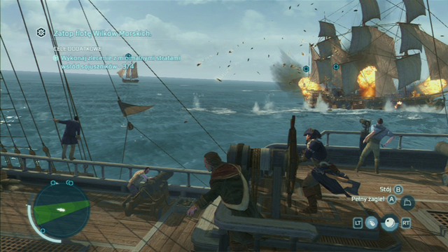 Destroy the last ships and the mission will end - The Sea Wolves - Privateer Contracts - Assassins Creed III - Game Guide and Walkthrough