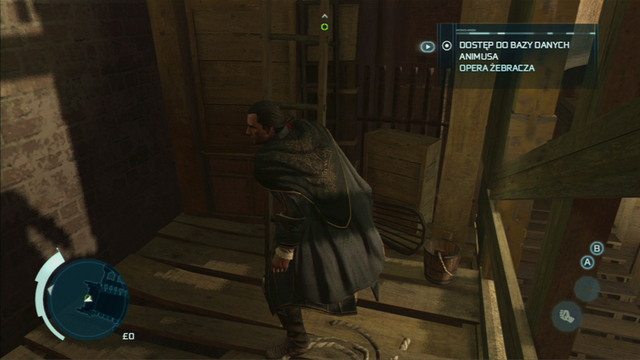 That way you will reach a ladder which you have to climb back up - Sequence 1 - Deadly Performance - Walkthrough - Assassins Creed III - Game Guide and Walkthrough
