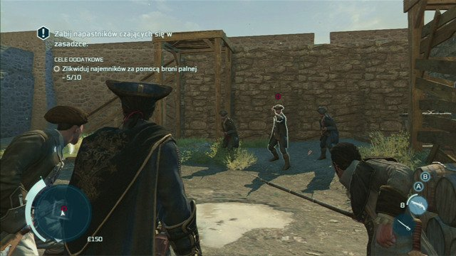 As you approach it, more mercenaries will appear - Sequence 2 - Johnsons Errand - Walkthrough - Assassins Creed III - Game Guide and Walkthrough