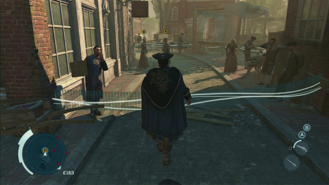 To find him, you need to eavesdrop on the neighbours of the abducted, marked on the map - Sequence 2 - The Surgeon - Walkthrough - Assassins Creed III - Game Guide and Walkthrough