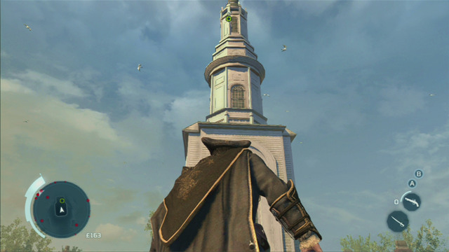 After they stop talking, you will receive a mission of climbing onto the top of the nearby church - Sequence 2 - The Surgeon - Walkthrough - Assassins Creed III - Game Guide and Walkthrough