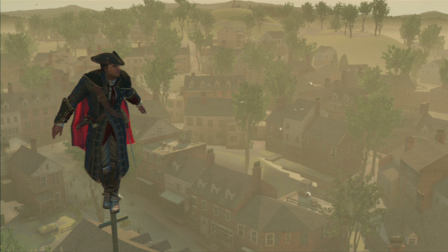 Climb to the top and press the interaction button - Sequence 2 - The Surgeon - Walkthrough - Assassins Creed III - Game Guide and Walkthrough