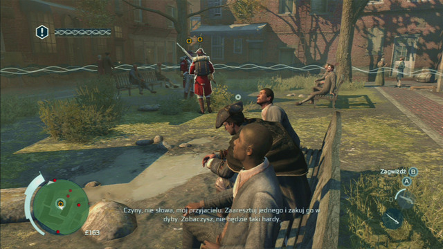 After the first eavesdrop, head to the green circle marked on the map - Sequence 2 - The Surgeon - Walkthrough - Assassins Creed III - Game Guide and Walkthrough