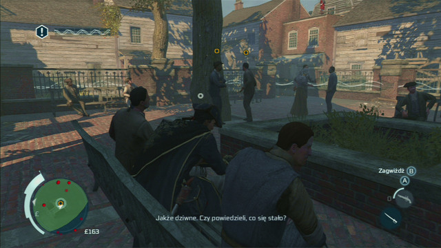 Further people to eavesdrop on can be found in the second green area - Sequence 2 - The Surgeon - Walkthrough - Assassins Creed III - Game Guide and Walkthrough