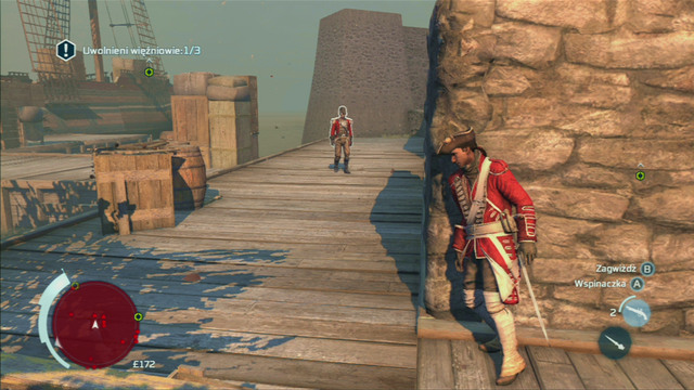 If you're fast enough, you should get there before the next guard shows up there - Sequence 2 - Infiltrating Southgate - Walkthrough - Assassins Creed III - Game Guide and Walkthrough