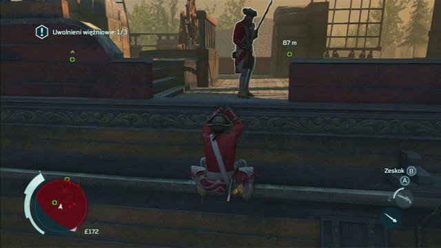 After he's dead, go lower and wait for the second guard to return to his position - Sequence 2 - Infiltrating Southgate - Walkthrough - Assassins Creed III - Game Guide and Walkthrough