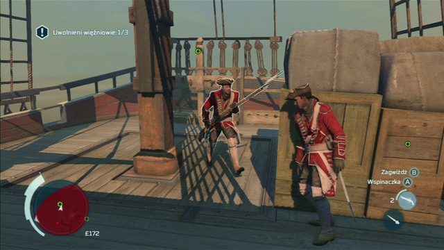 Board the ship and hide behind the cargo - Sequence 2 - Infiltrating Southgate - Walkthrough - Assassins Creed III - Game Guide and Walkthrough