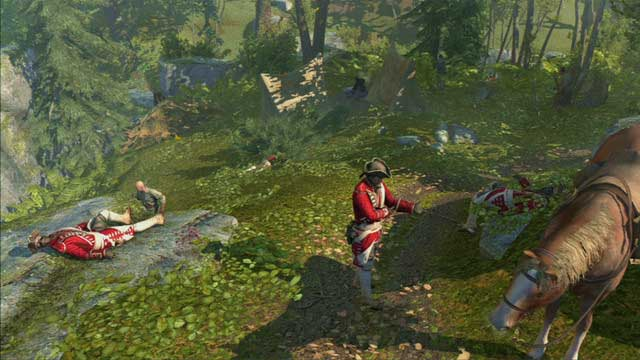 After killing him, attack the others without worrying about getting detected - Sequence 3 - The Braddock Expedition - Walkthrough - Assassins Creed III - Game Guide and Walkthrough