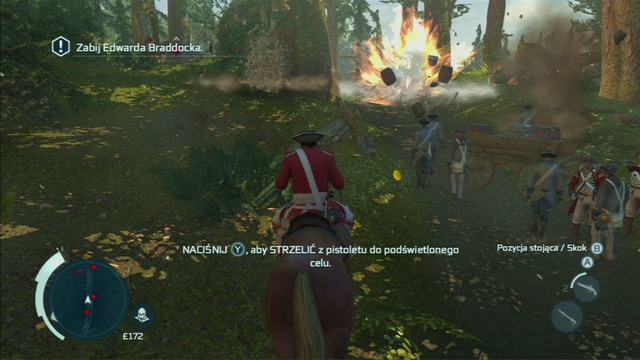 Optional objective: Destroy powder carts - 3 - Sequence 3 - The Braddock Expedition - Walkthrough - Assassins Creed III - Game Guide and Walkthrough