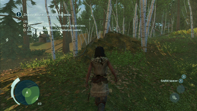 The first child can be found in the pile of leaves in the middle of the area - Sequence 4 - Hide and Seek - Walkthrough - Assassins Creed III - Game Guide and Walkthrough