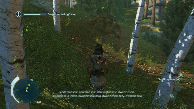 In the second part of the game, you will have to hide from a friend - Sequence 4 - Hide and Seek - Walkthrough - Assassins Creed III - Game Guide and Walkthrough