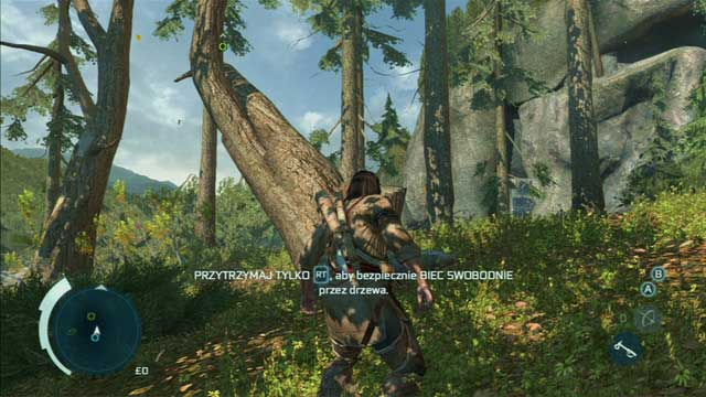 The mission will start with a tree jumping tutorial - Sequence 4 - Feathers and Trees - Walkthrough - Assassins Creed III - Game Guide and Walkthrough