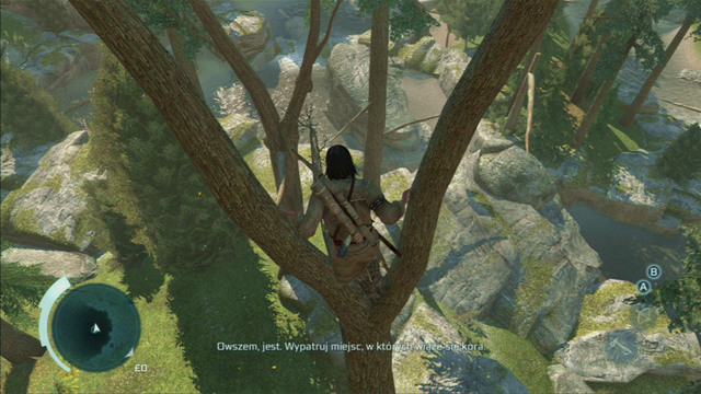 In order to climb higher, you have to press the jump button - Sequence 4 - Feathers and Trees - Walkthrough - Assassins Creed III - Game Guide and Walkthrough