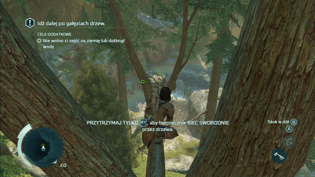 Optional objective: Do not touch the ground or water - Sequence 4 - Feathers and Trees - Walkthrough - Assassins Creed III - Game Guide and Walkthrough
